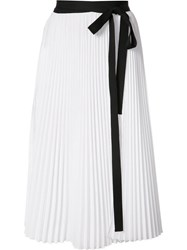 Tome 'Pleated Wrap' Skirt White