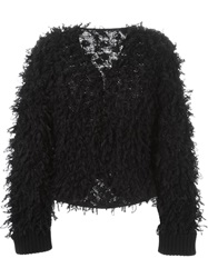 Giorgio Armani Loop Knit Cardigan Black