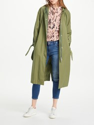 Maison Scotch Hooded Trench Coat Army