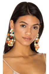 Mercedes Salazar Flor Atardecer Earrings Ivory