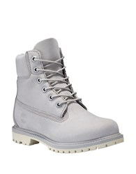 Timberland Icon Premium Leather High Top Boots Flint Grey