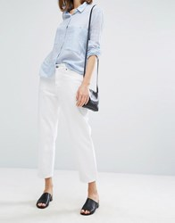 Dr. Denim Dr Haze Mid Rise Relaxed Crop Jean White
