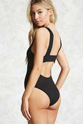 Forever 21 Ribbed Back Cutout Bodysuit