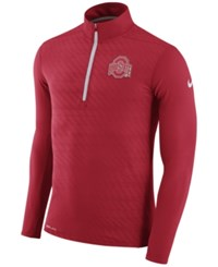 Nike Men's Ohio State Buckeyes Element Half Zip Pullover Red