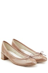 Repetto Patent Leather Pumps Beige