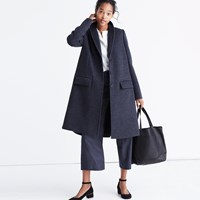 Madewell Teatro Swing Coat In Heather Grey Hthr Shadow