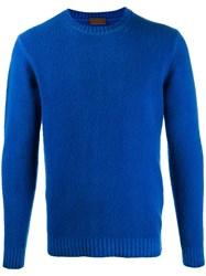 Altea Long Sleeve Fitted Sweater Blue