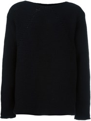 Lost And Found Ria Dunn Chunky Knit Jumper Black
