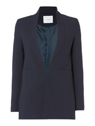 Ivy And Oak Longsleeve Shawl Collar Blazer With Front Pocket Midnight Blue