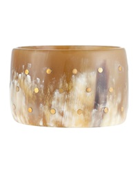 Ashley Pittman Light Horn Bronze Dot Bangle Bracelet