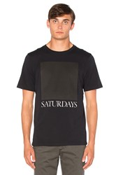 Saturdays Surf Nyc Chest Square Tee Black