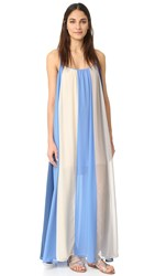 Line And Dot El Ray Color Block Maxi Dress Aqua