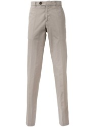 Brunello Cucinelli Cropped Chinos Nude Neutrals