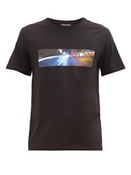 Neil Barrett City Lights Print Cotton Blend T Shirt Black