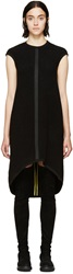 Denis Gagnon Black Ribbed Wool Tunic