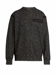 Raey Cotton Tape Wool And Cotton Blend Sweatshirt Black