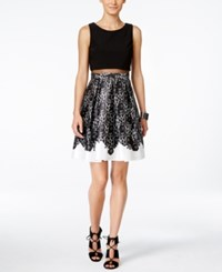 Inc International Concepts Sleeveless Illusion Fit And Flare Dress Only At Macy's