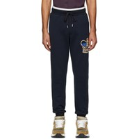 Dolce And Gabbana Blue Crown Lounge Pants
