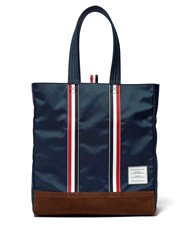 Thom Browne Striped Tote Bag Navy