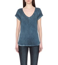 Paige Charlie Jersey T Shirt Vintage Insignia Blue