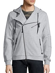 Madison Supply Fleece Heathered Hoodie Heather Grey