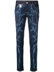 Just Cavalli Bleached Skinny Jeans Blue