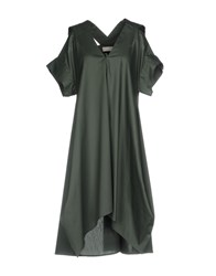 Malloni Knee Length Dresses Dark Green