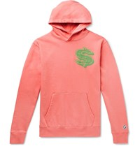 Billionaire Boys Club Printed Loopback Cotton Jersey Hoodie Pink
