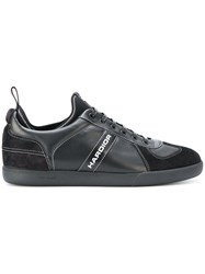 Christian Dior Homme Hardior Sneakers Calf Leather Polyester Calf Suede Rubber Black