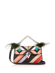 Fendi Micro Baguette Bag Bugs Cross Body Bag Multi
