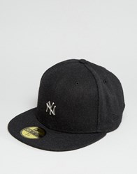 New Era 59Fifty Cap Fitted Ny Yankees In Melton Wool Black