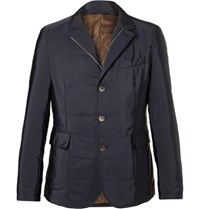 Hackett Slim Fit Quilted Shell Jacket Navy