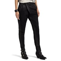 R 13 Waxed Cotton Blend Crossover Pants Black