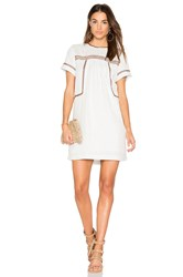 Michael Stars Dobby Stripe Dress White