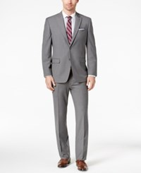Tommy Hilfiger Slim Fit Stretch Light Gray Suit Grey