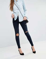 J Brand Maris High Rise Skinny Jeans With Rips And Distressing Destructed Sanctity Black