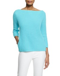 Michael Kors Collection Chunky Knit Cashmere Sweater Harbor