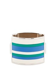 Marni Striped Leather Cuff Blue