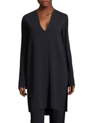 The Row Jane Tunic Top Dark Navy