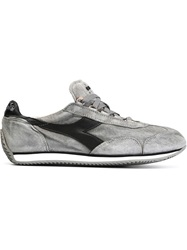 Diadora Panelled Lace Up Sneakers Grey