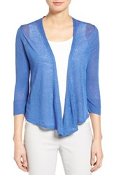 Nic Zoe Petite Women's '4 Way' Convertible Three Quarter Sleeve Cardigan Poolside
