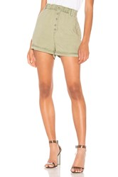 Bella Dahl Button Front High Waisted Short Army