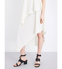 Pringle Asymmetric Hem Cashmere Skirt Cream