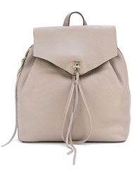 Rebecca Minkoff Drawstring Backpack Women Leather One Size Nude Neutrals