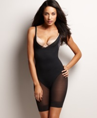 Miraclesuit Extra Firm Open Bust Thigh Slimming Body Shaper 2781 Black