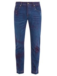 Gucci Mid Rise Tapered Leg Jeans Blue