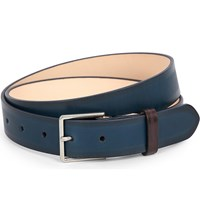 Paul Smith Accessories Burnished Leather Belt Navy