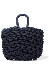 Alienina Agata Woven Cotton Tote Navy
