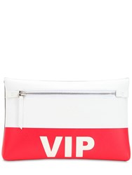 Maison Martin Margiela Vip Leather Pouch White Red