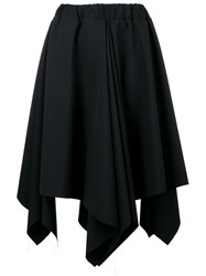Moohong Asymmetrical Pleated Skirt Black